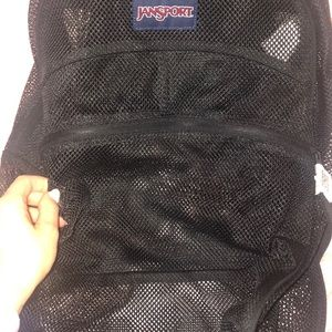Jansport Bags - Black Mesh Jansport Backpack